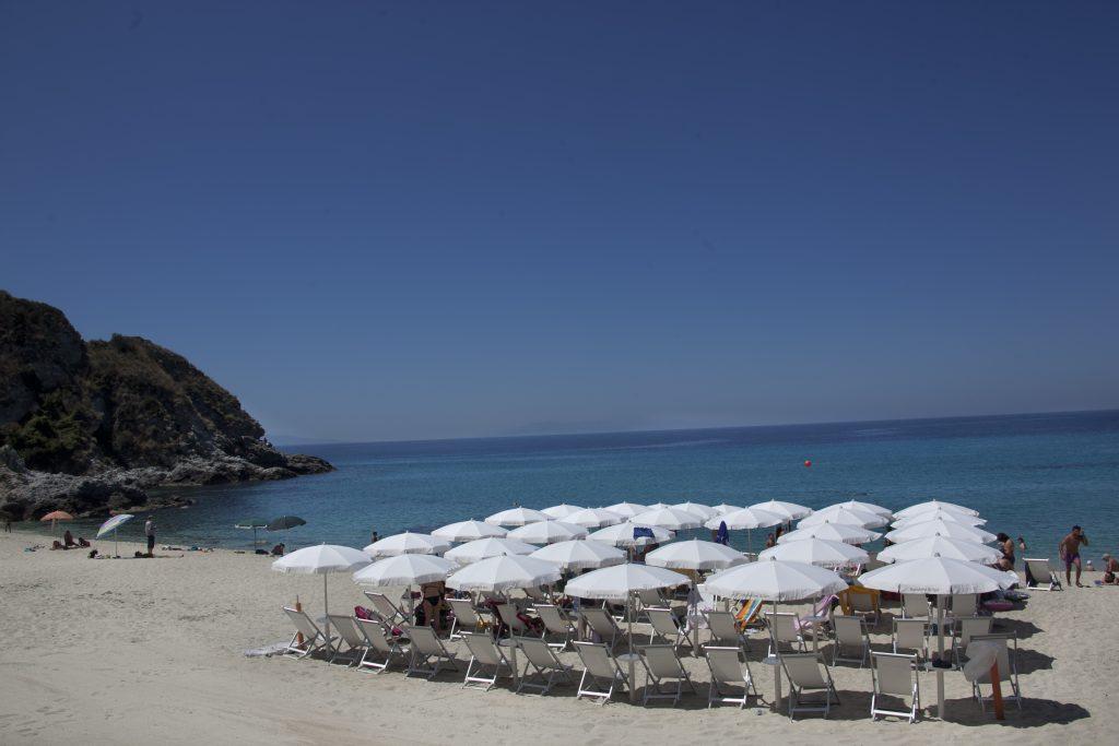 La spiaggia privata del Sunshine Club Hotel